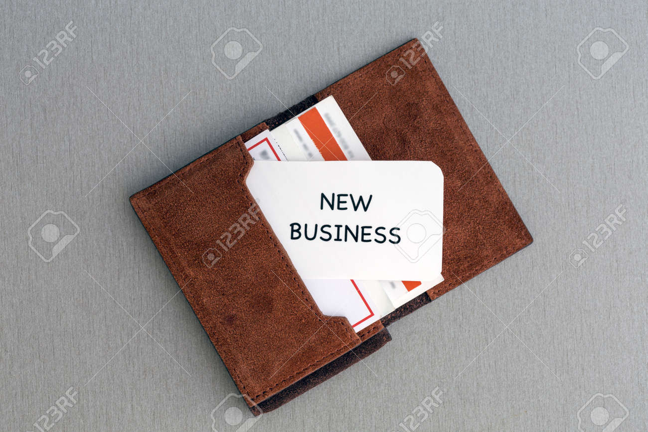 New Business Conceptual Composition With Leather Business-card ...
