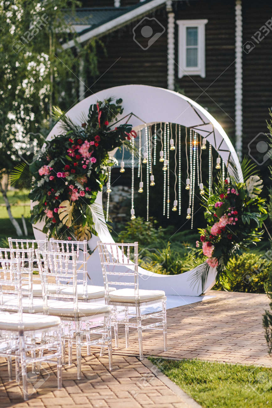 The Wedding Arch On The Territory Of The Hotel In The Form Of ...