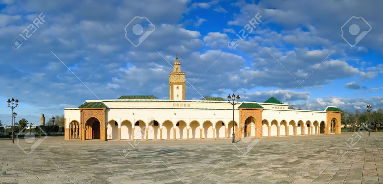 royal mosque at rabat morocco also known as mosque ahl fas panorama