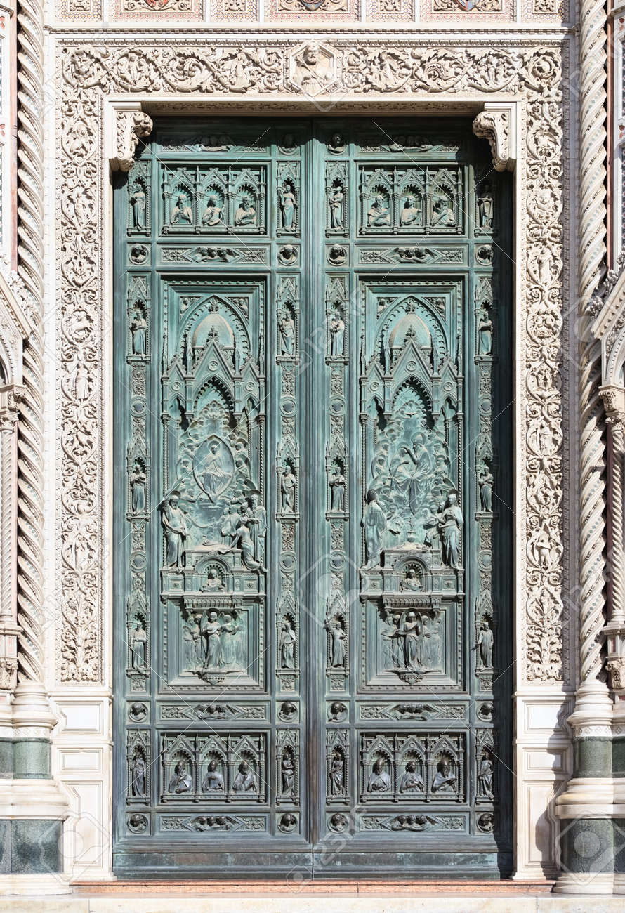Front doors of Cathedral of Santa Maria del Fiore Florence (Italy) Stock Photo & Front Doors Of Cathedral Of Santa Maria Del Fiore Florence (Italy ... Pezcame.Com