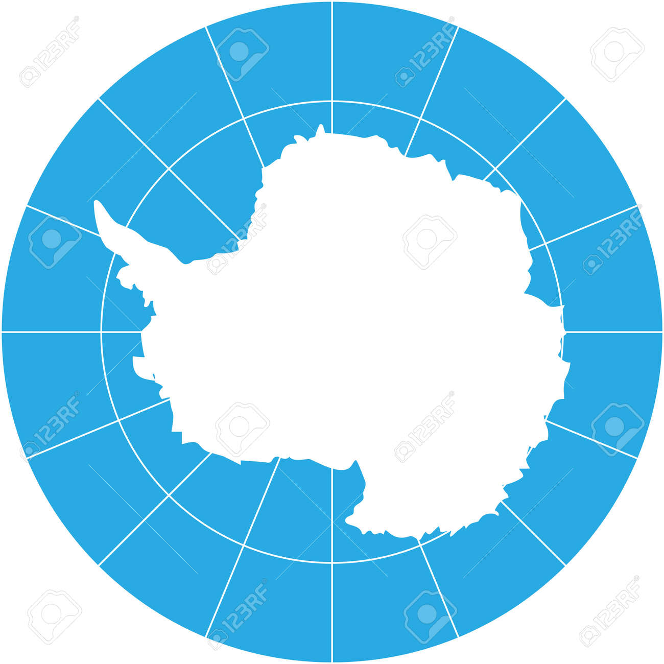 Vector map of antarctica southern earth continent royalty free vector vector map of antarctica southern earth continent gumiabroncs Choice Image