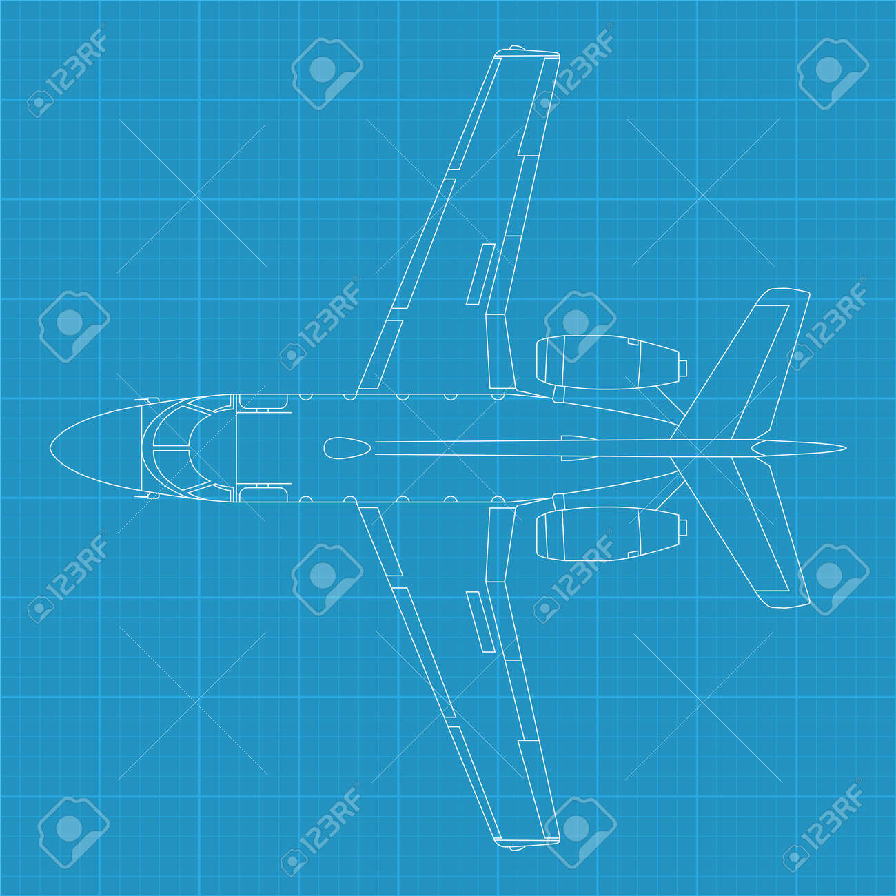 high detailed vector illustration of modern civil airplane - 12345606
