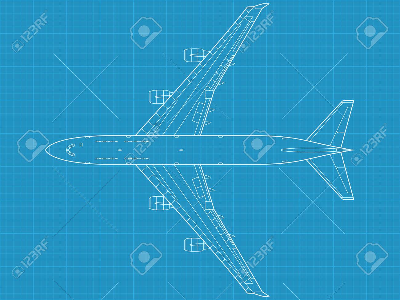 high detailed vector illustration of modern civil airplane - 12498391