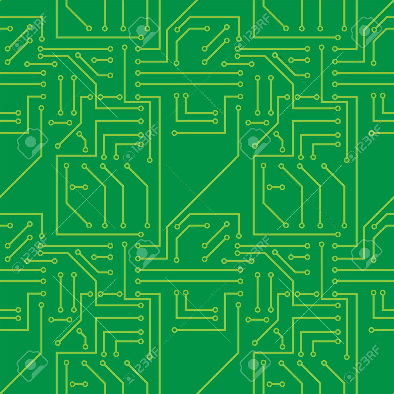 Seamless Pattern With Electronic Printed Circuit Board Royalty Free ...