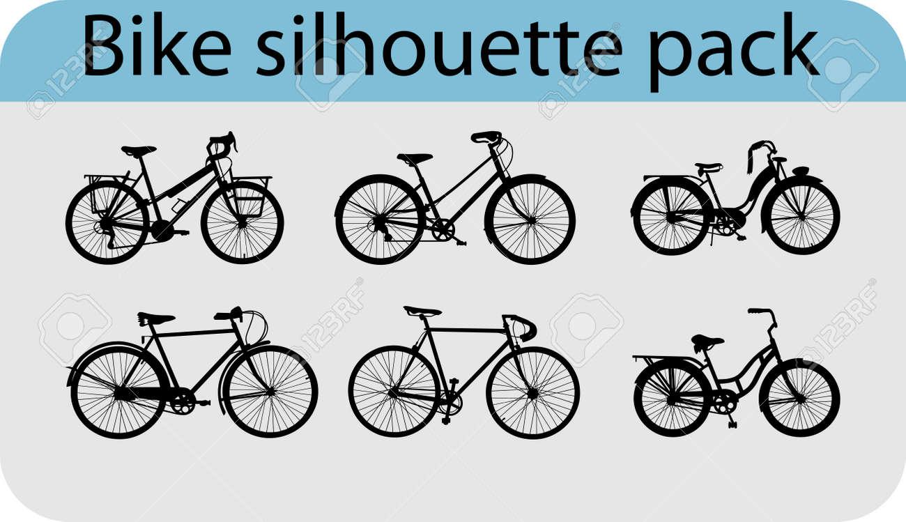 six various bike silhouettes - 14988459