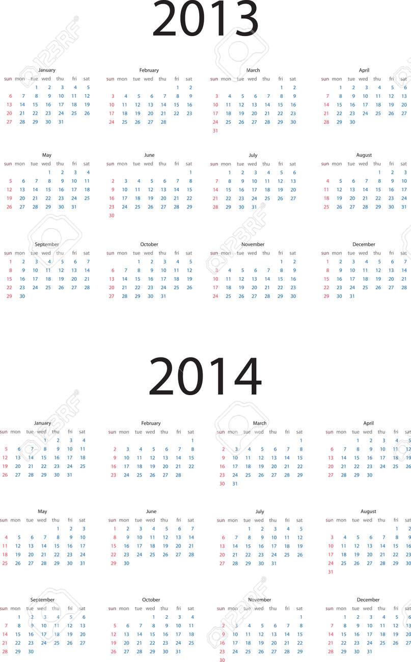 Editable calendar for 2013 and 2014 - 15125880