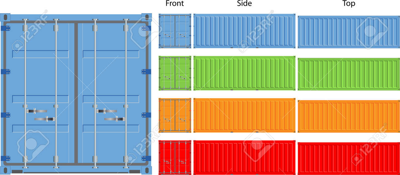 cargo container vector illustration isolated on white background Stock Vector - 17296080
