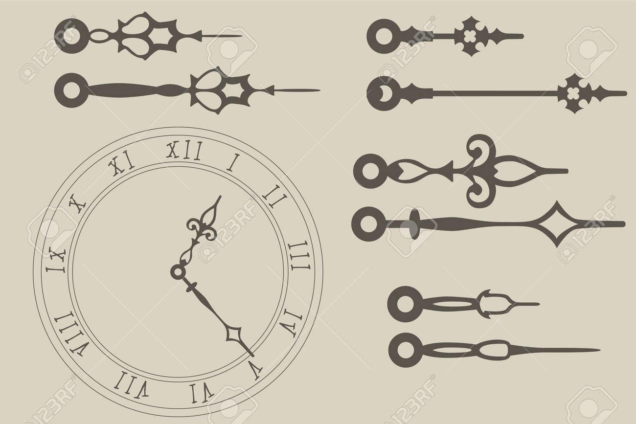 Vector clock hands pack - 19119633