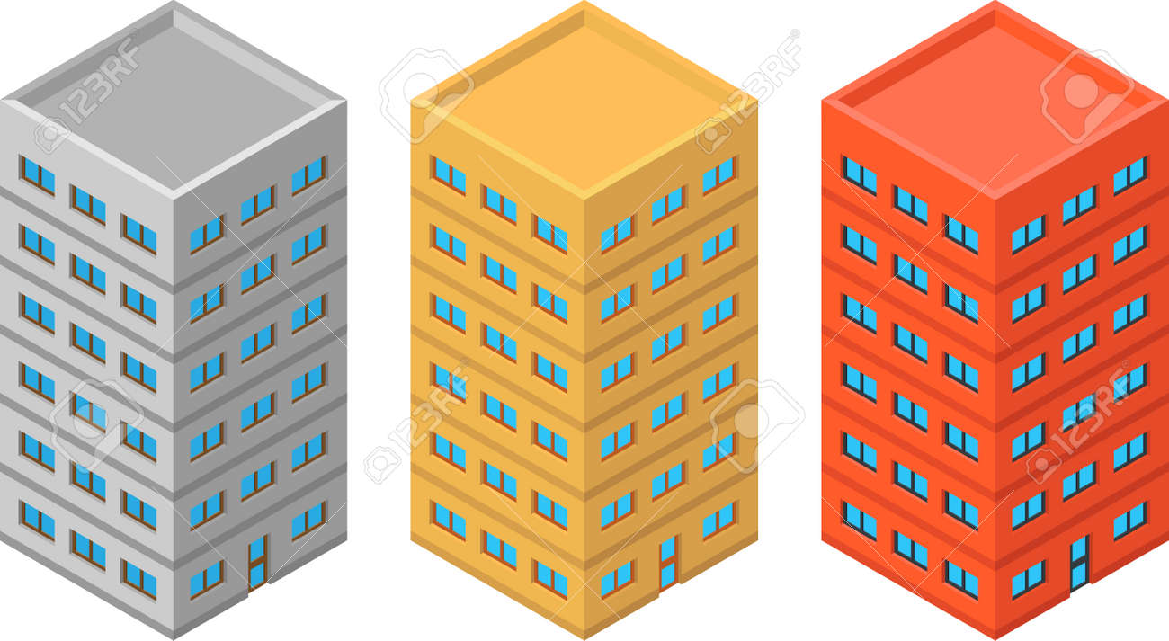 High detailed vector isometric building - 25319146