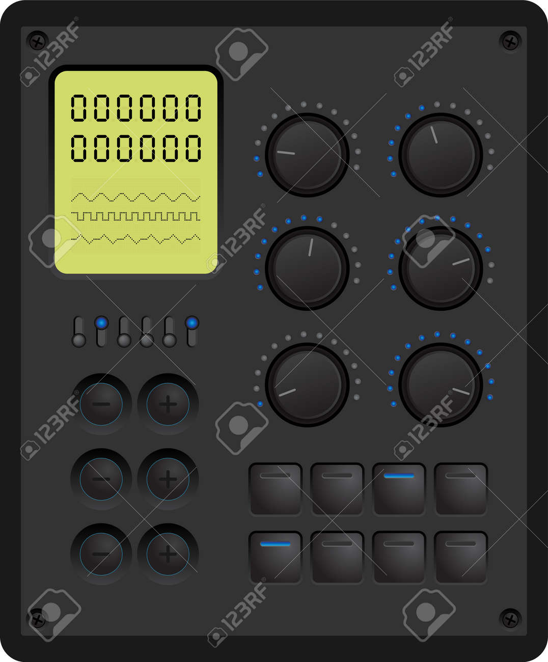 Vector illustration of a control panel for a digital device - 33845189