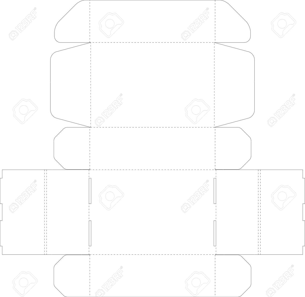 Cardboard Box Template Royalty Free Cliparts, Vectors, And Stock ...