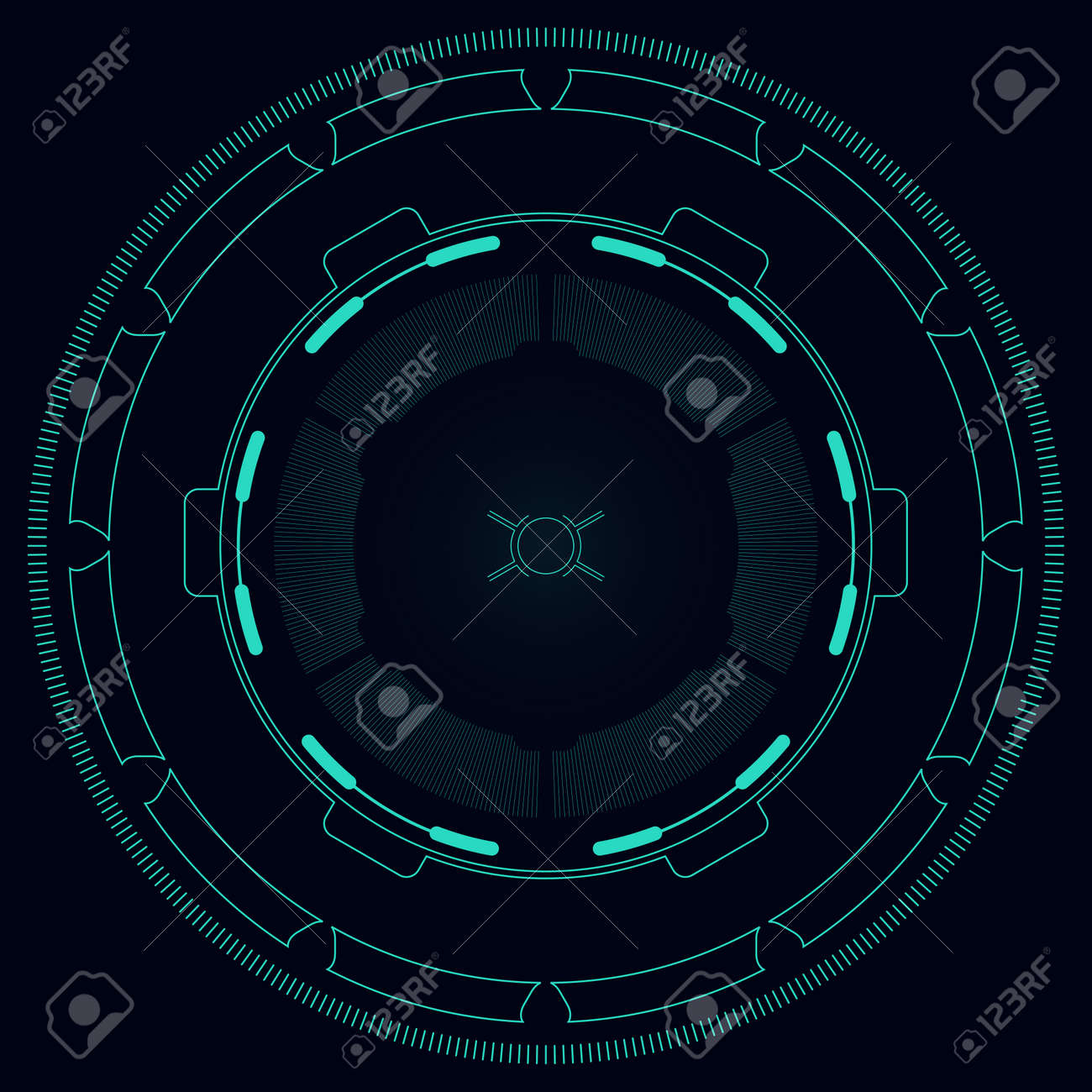 Hi-tech target for video games illustration. - 92393646