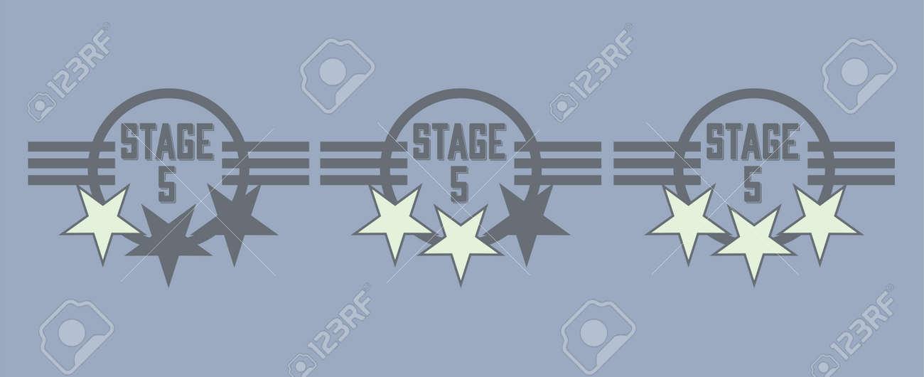 Level complete badges vector set - 92402794