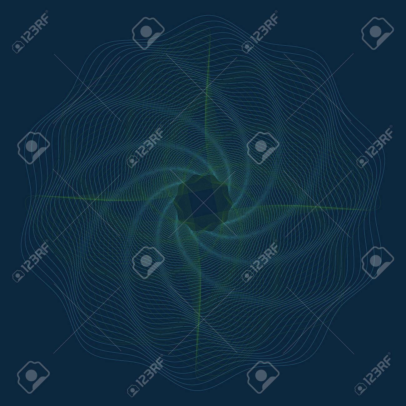 Editable guilloche vector pattern - 123438383