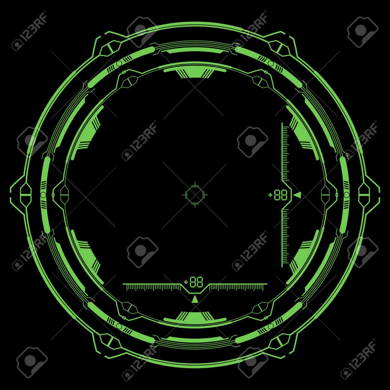 hi-tech target for video games - 123438386