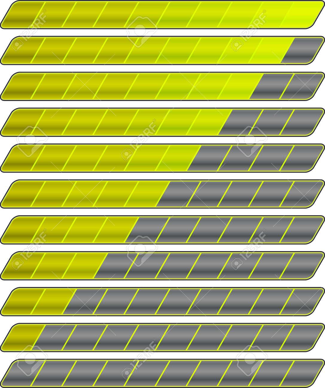 Colorful progress bar vector set - 123438390