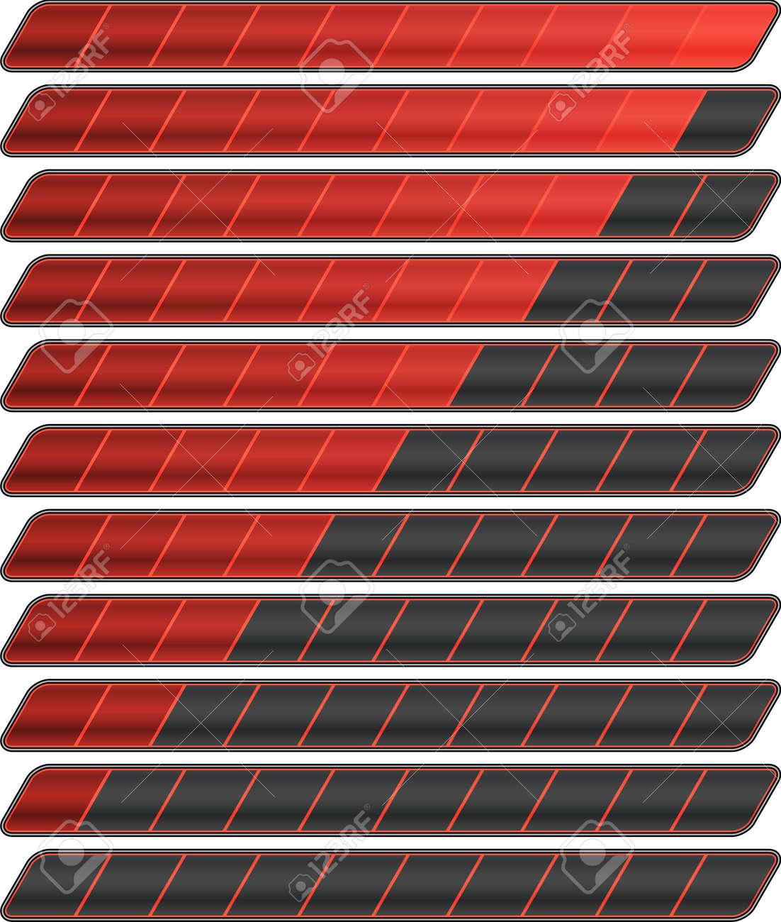 Colorful progress bar vector set - 123438391