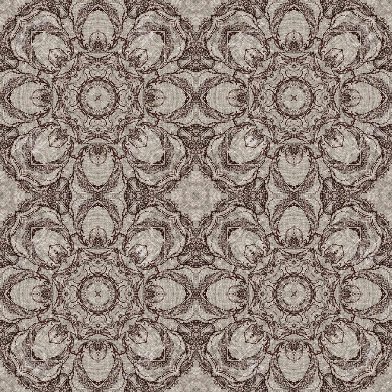 nahtlose knstlerischen hintergrund abstrakte grafische muster auf vintage leinwand standard bild 29183447 - Grafische Muster