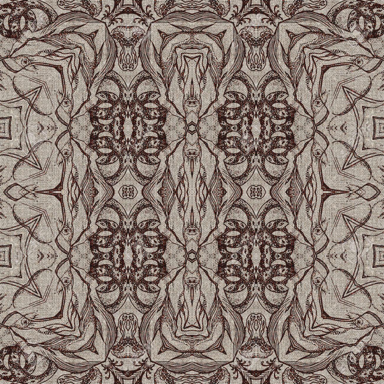seamless knstlerische abstrakte grafische muster auf vintage leinwand standard bild 30715217 - Grafische Muster