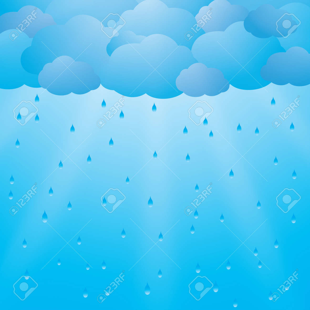 Background with clouds, rain and sun rays - 20662827