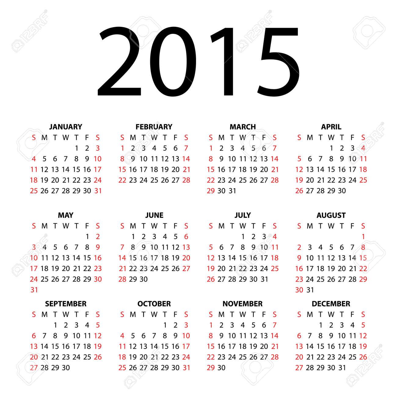 Calendar for 2015 - 23859619