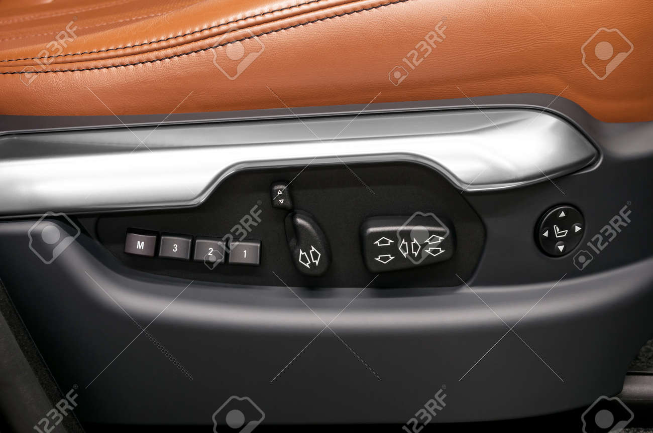 Car interior Buttons for adjusting seat position - 29126864