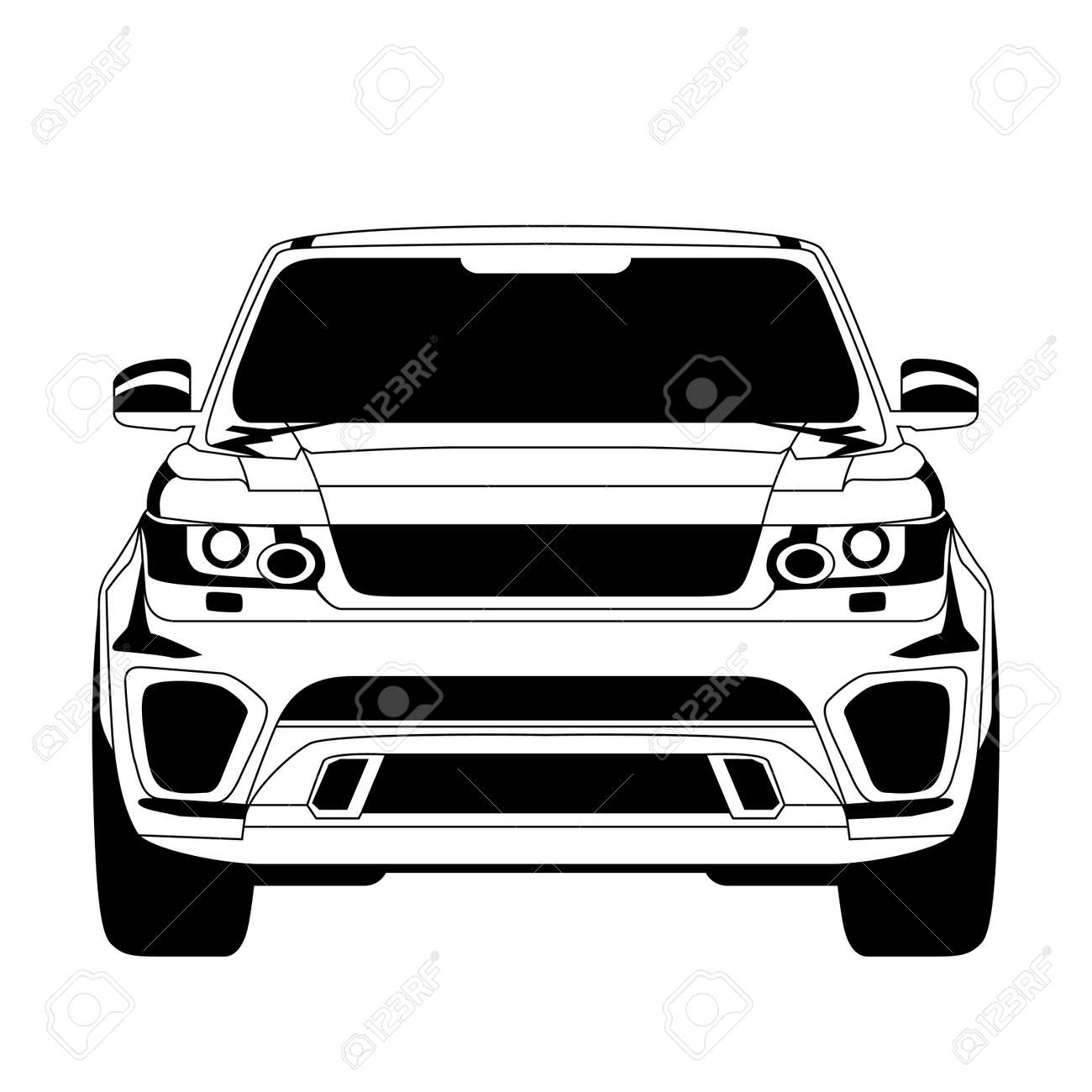 Car icon. Isolated on white background. Vector EPS10. - 33083583