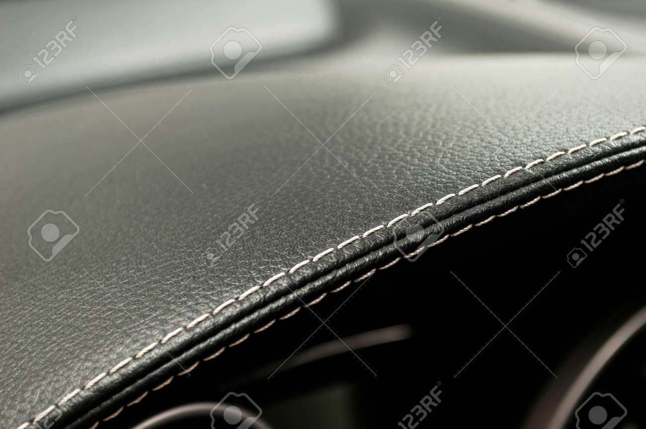 Leather background. Modern business car interior detail. - 38971784
