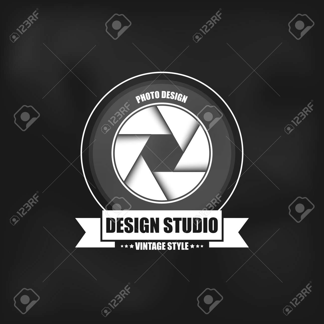 fotografia logo in stile vintage può essere utilizzato per i loghi