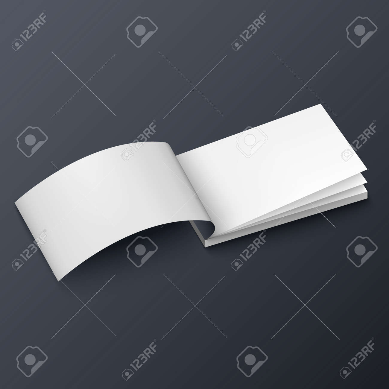 Notepad Booklet Business Card Or Brochure Mockup Template Royalty ...