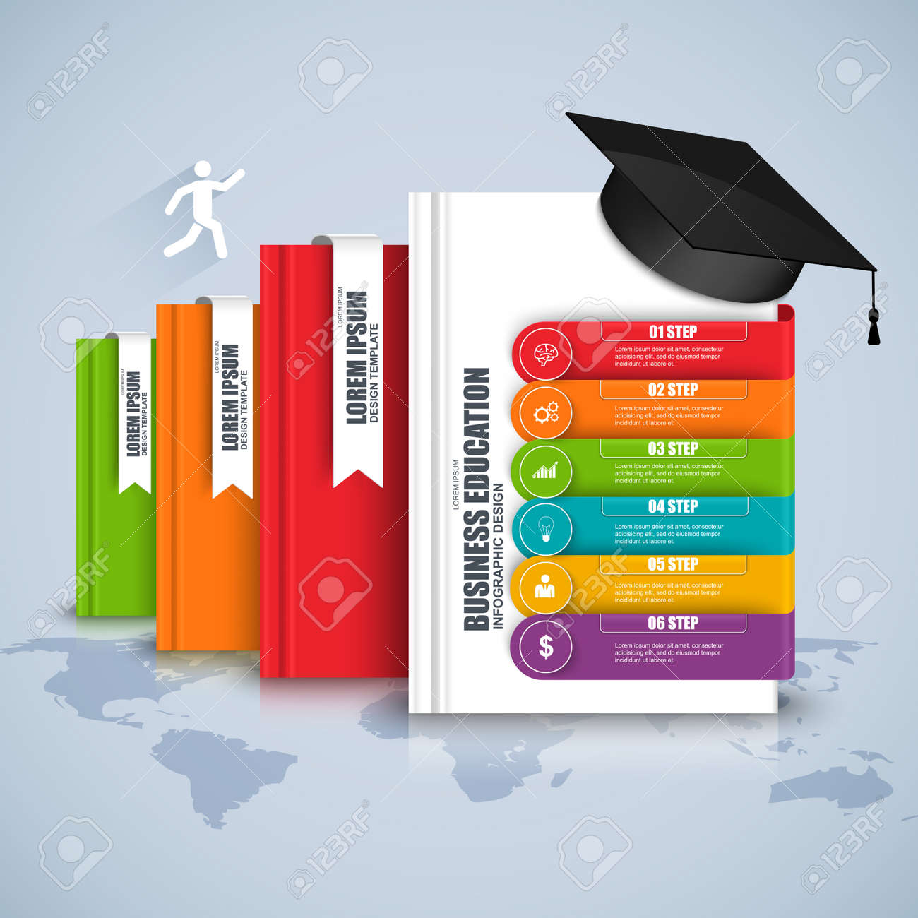 Books step business education infographic can be used for workflow books step business education infographic can be used for workflow processes banner diagram ccuart Image collections