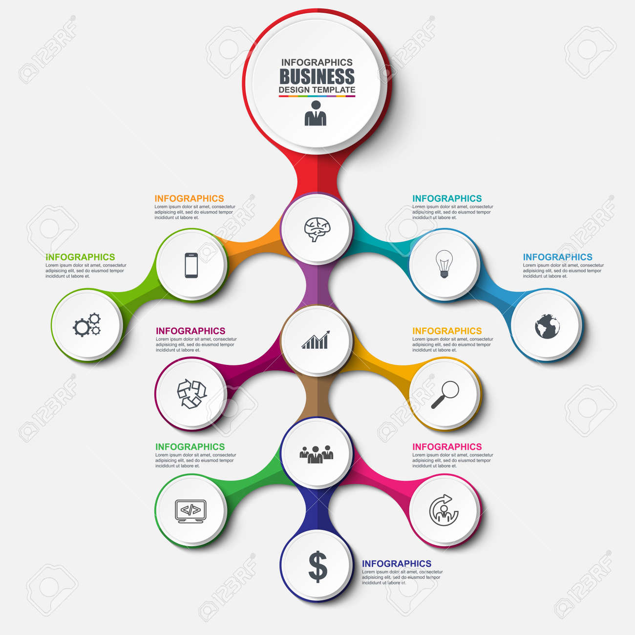 Abstract 3d business tree infographic can be used for workflow abstract 3d business tree infographic can be used for workflow layout data visualization cheaphphosting Image collections