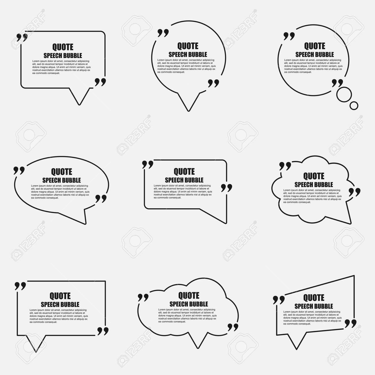 Quote speech bubble vector design template circle business card quote speech bubble vector design template circle business card template paper sheet information reheart Images