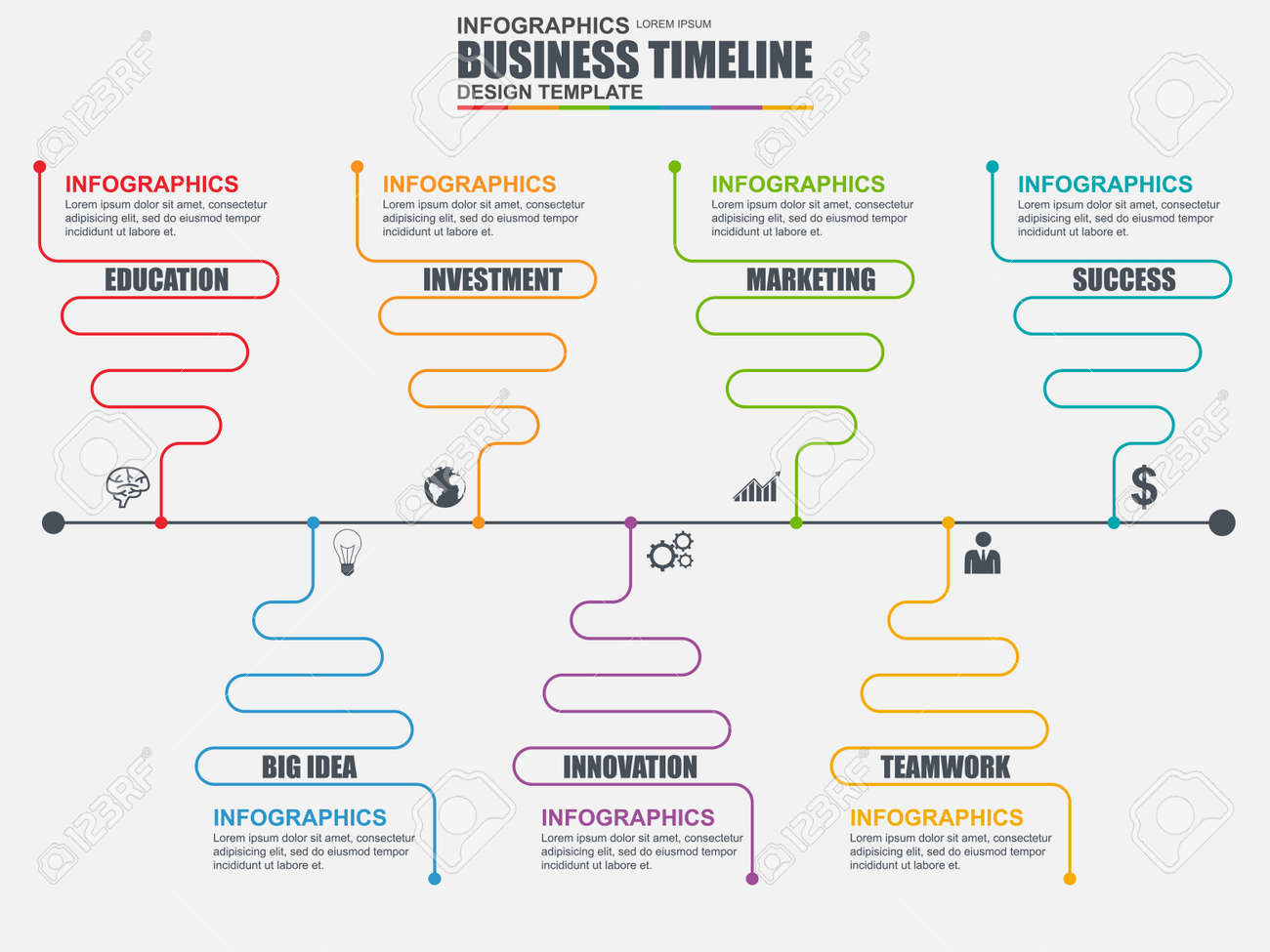 Infographic linear timeline design template can be used for infographic linear timeline design template can be used for workflow business timeline diagram pooptronica Images