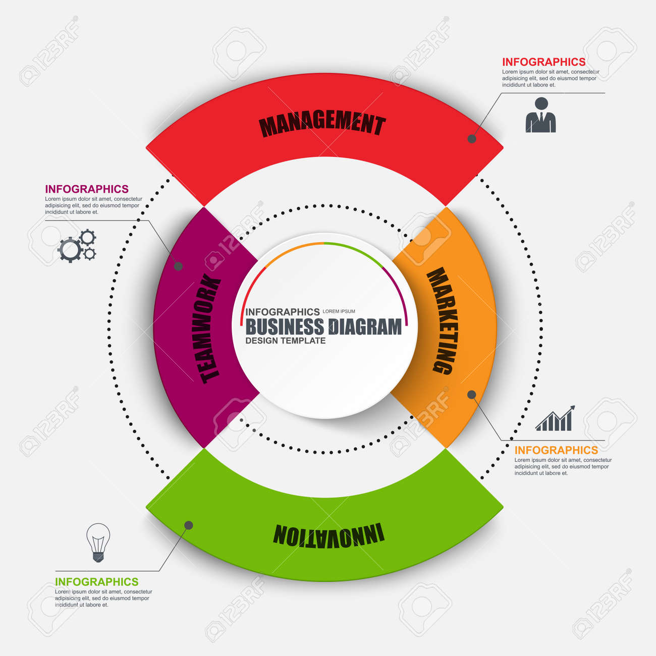 Infographic circular design template can be used for workflow infographic circular design template can be used for workflow cycle diagram statistic ccuart Choice Image