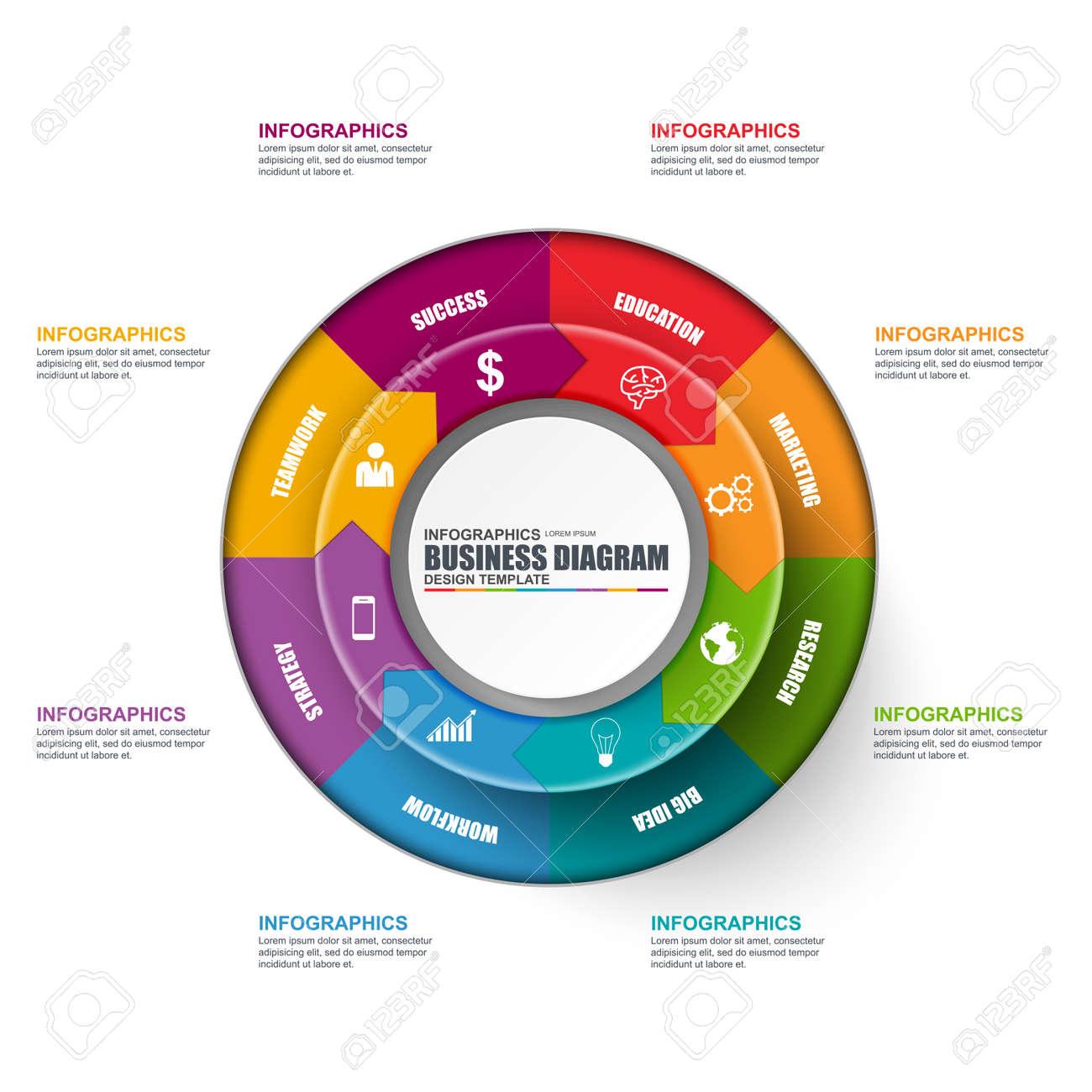 Infographic circular diagram vector design template can be used infographic circular diagram vector design template can be used for workflow cycle layout wajeb Gallery