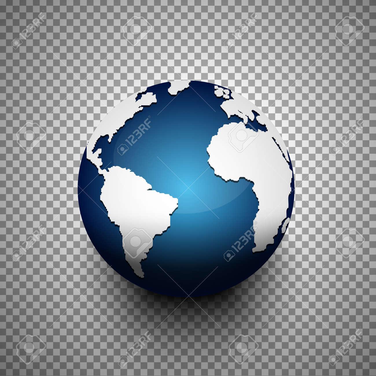 Carte Du Monde Realiste.Realiste Icone De Globe 3d De La Carte Du Monde Sur Fond Transparent