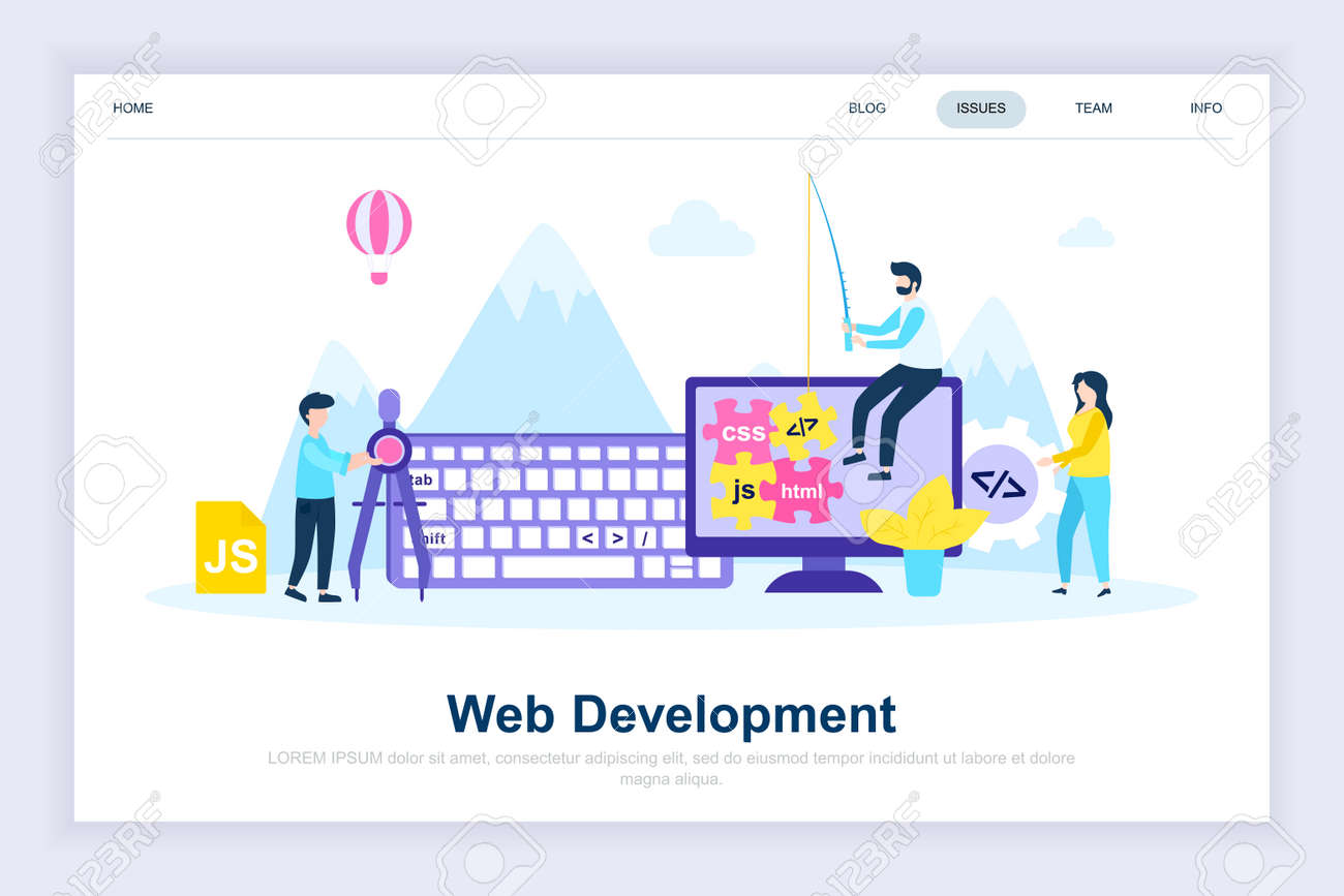 Web Development Modern Flat Design Concept Developer And People Royalty Free Cliparts Vectors And Stock Illustration Image 127545320