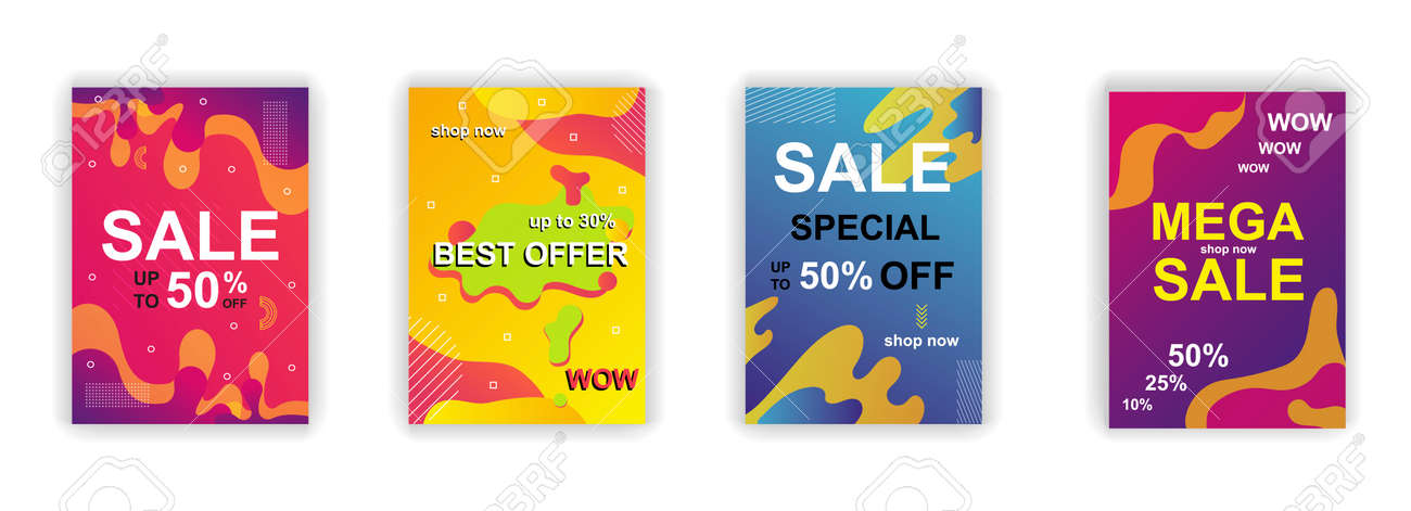 Sale Poster Social Media Stories Design Templates Vector Set Royalty Free Cliparts Vectors And Stock Illustration Image 140554302