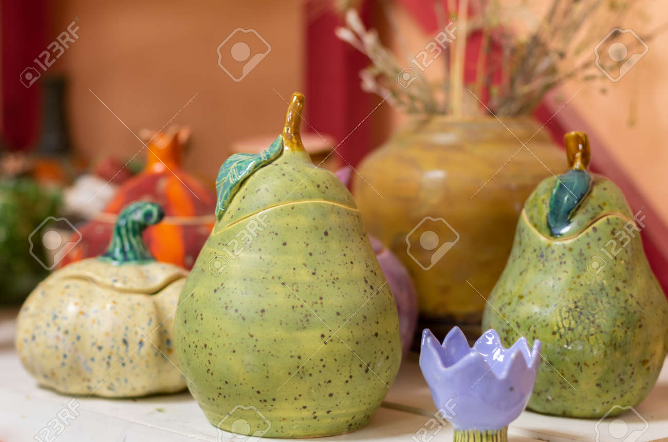 Handmade Clay Products Creative Workshop For The Production Stock Photo Picture And Royalty Free Image Image 146117136