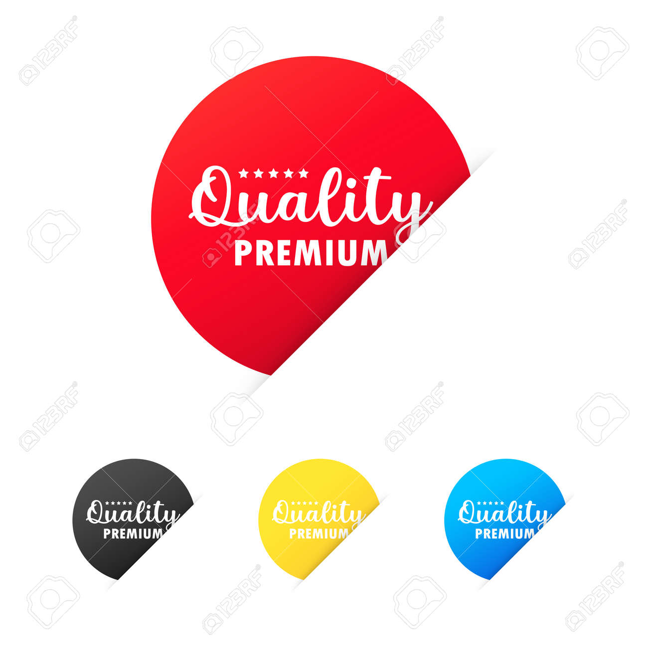 Premium quality sticker set. For graphic and web design. Vector on isolated white background. EPS 10. - 159959736