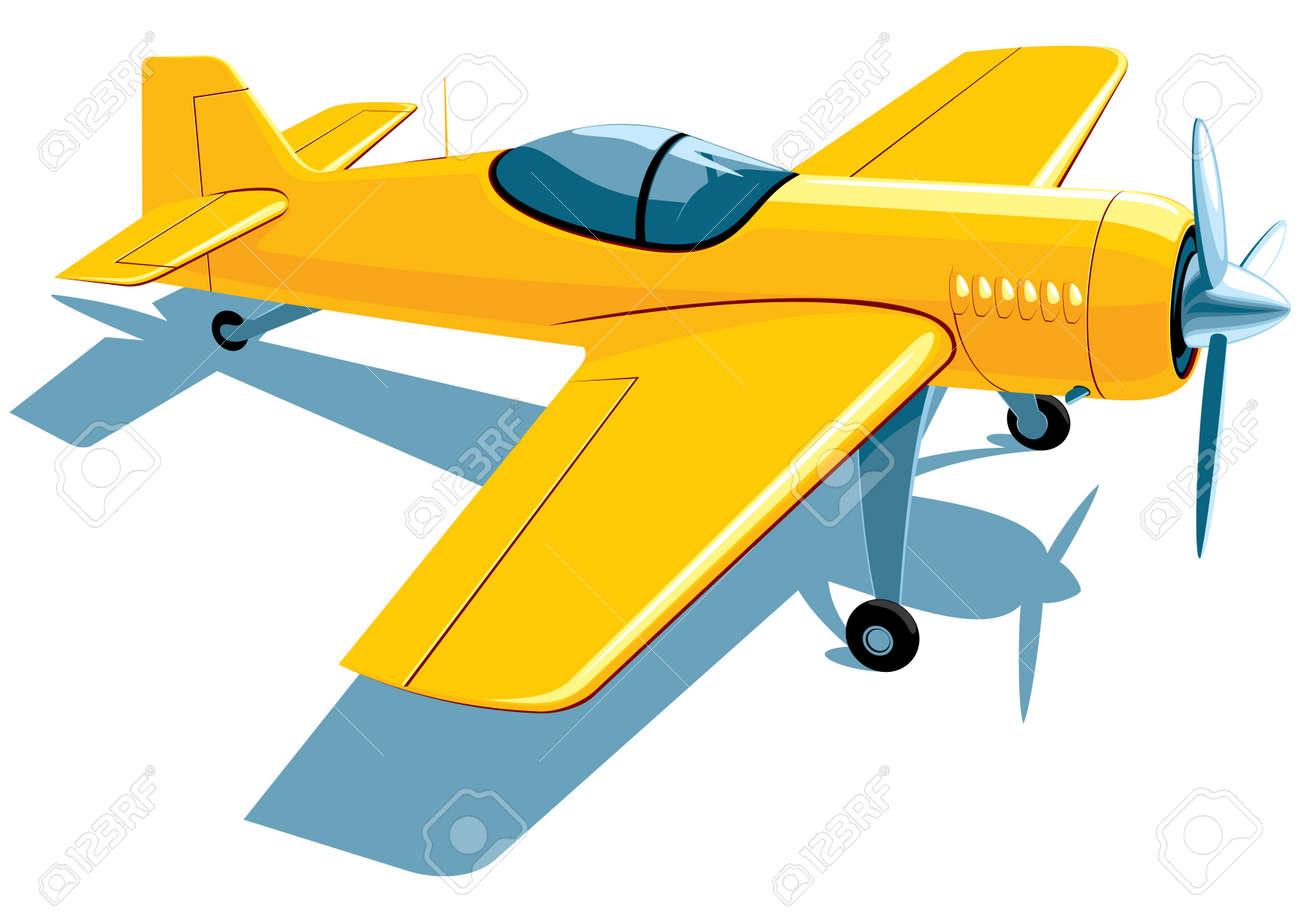 Avión Deportivo De Color Amarillo Ilustraciones Vectoriales, Clip ...