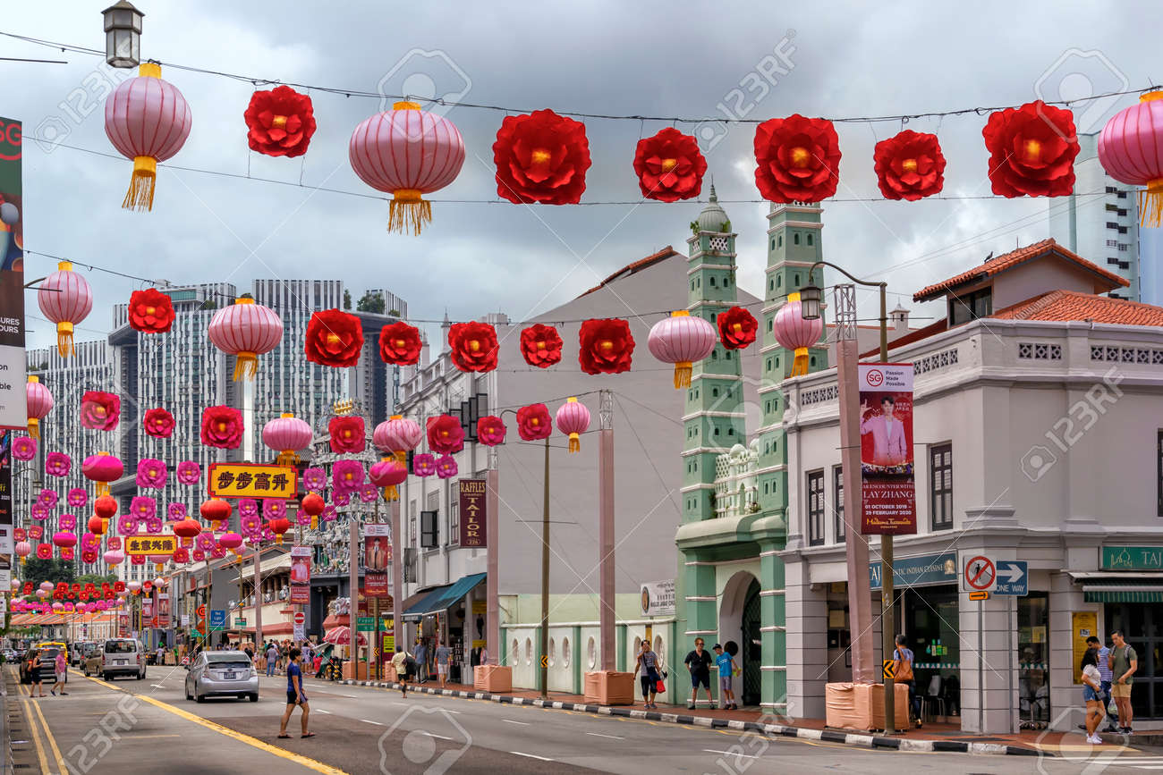 Singapore January 8 2020 Historic City Of Chinatown Decorated Stock Photo Picture And Royalty Free Image Image 139751129