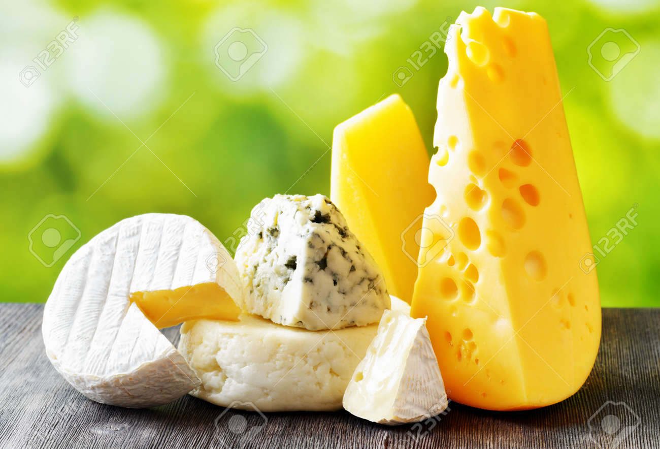 A close up of cheeseboard with different kinds of cheese for an appetizer - 150619967