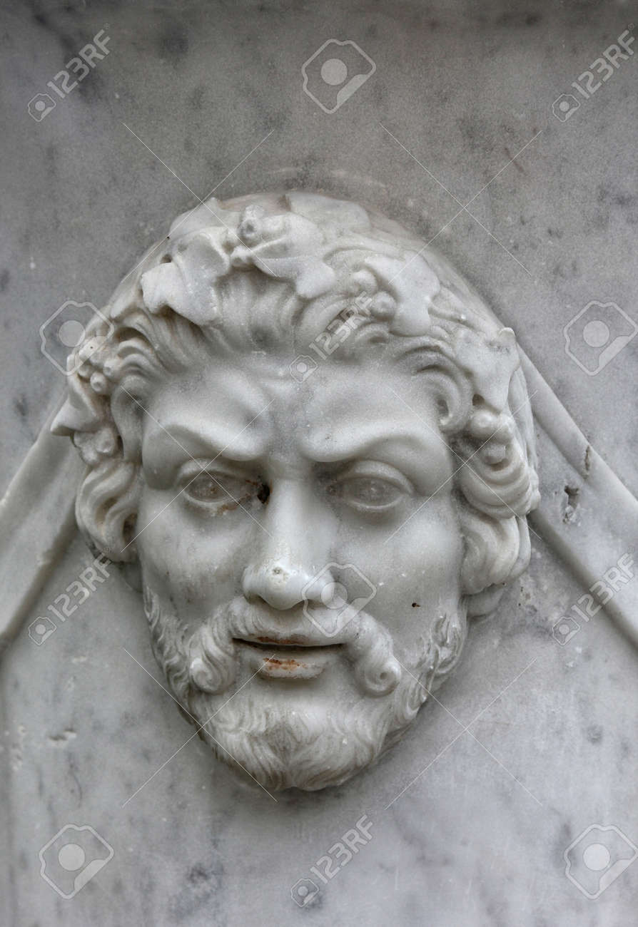 Marble bas relief in the form of ancient man face with beard marble bas relief in the form of ancient man face with beard on wall of reviewsmspy