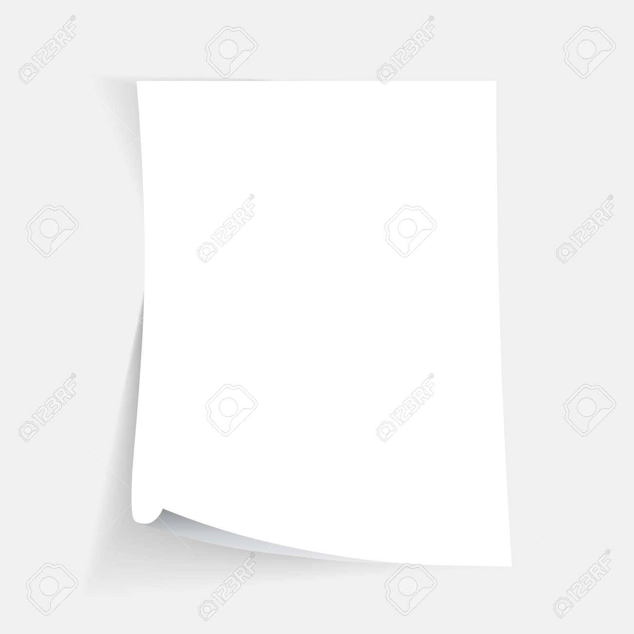 Empty folded paper sheet - 49395715