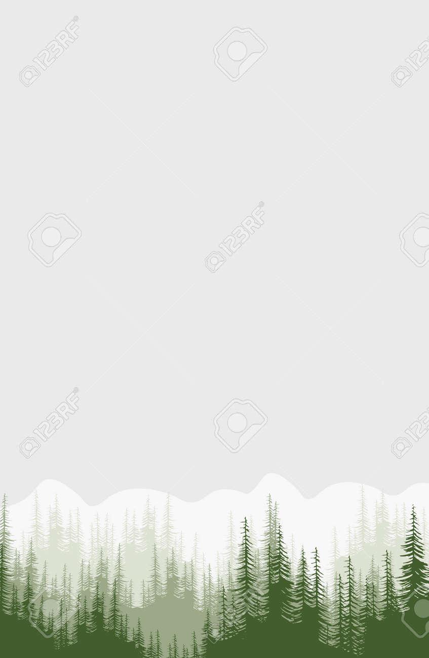 Bosques Y Montañas Verdes Fondos Plantillas De Diseño Para El Saludo Impresiones Diseño Web Invitación Conjunto De Tarjetas Elegantes