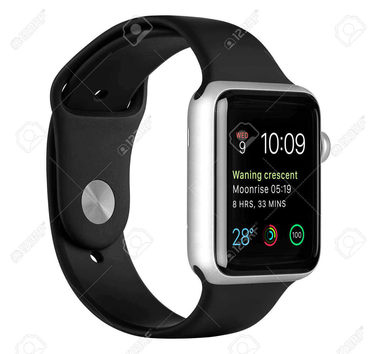 the latest 562a8 955f4 Varna, Bulgaria - October 16, 2015: Apple Watch Sport 42mm Silver..