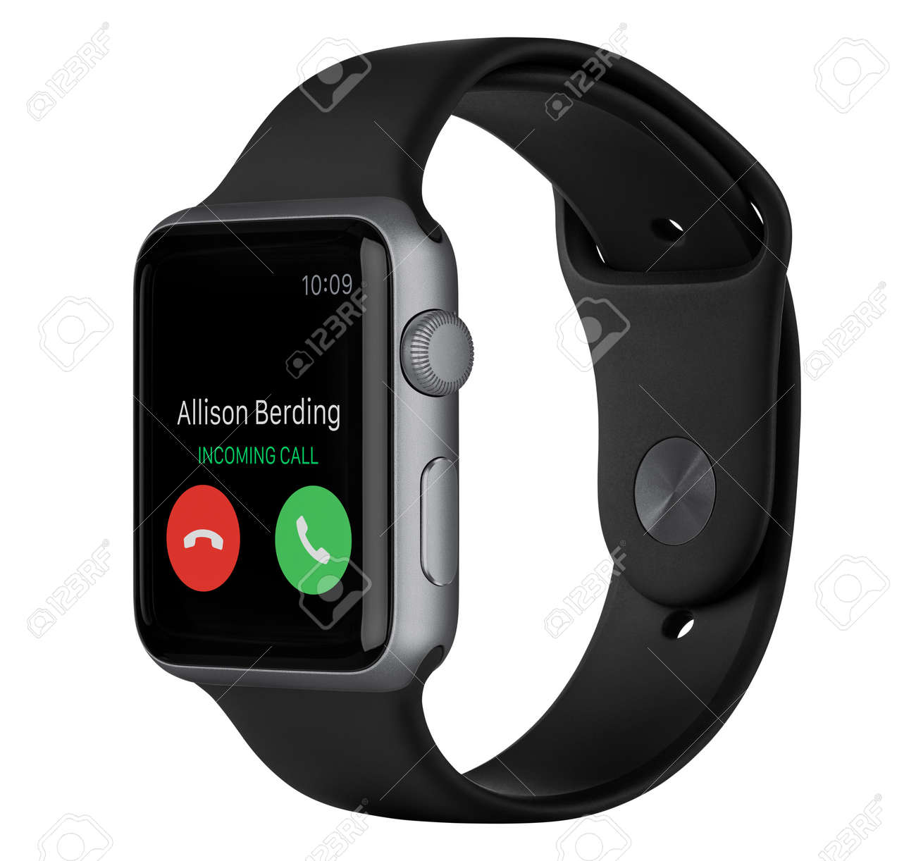 on sale 9477c e1291 Varna, Bulgaria - October 16, 2015: Side view of Apple Watch..