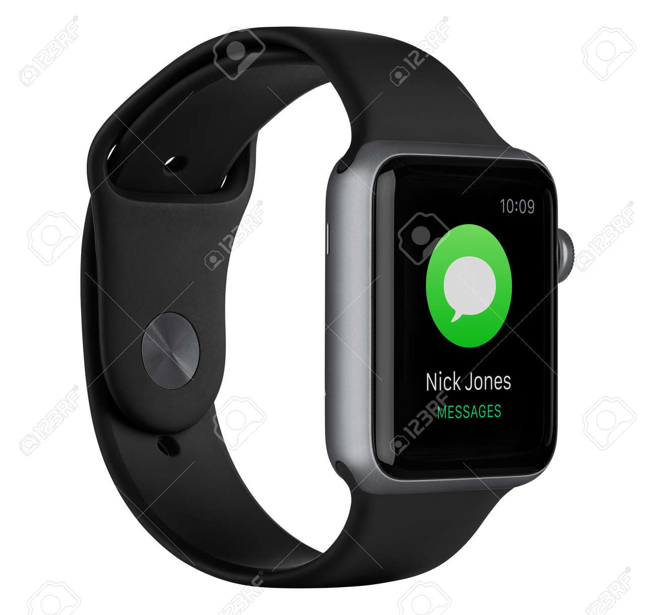 more photos f8e66 479e6 Varna, Bulgaria - October 16, 2015: Left side view of Apple Watch..